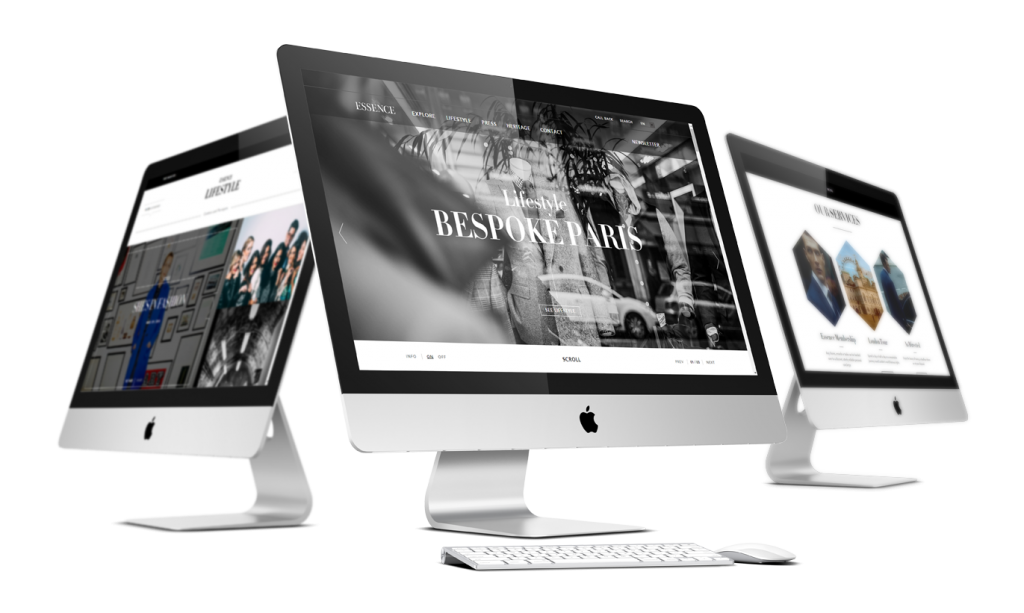 Essence London website development