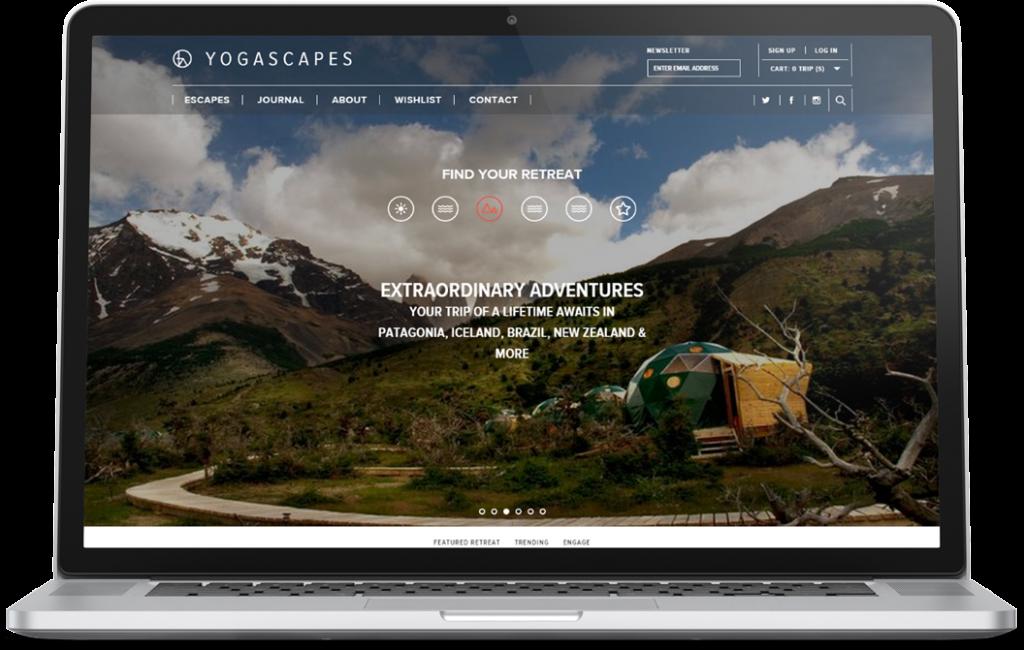 Yogascapes website ecommerce development