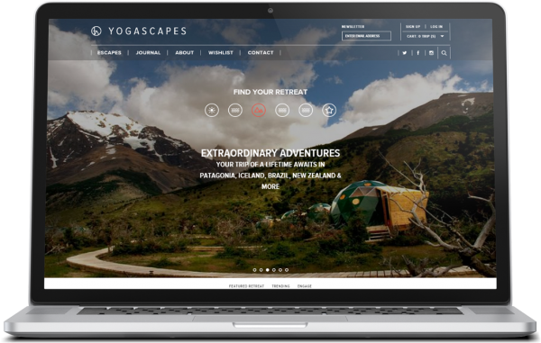 Yogascapes ecommerce website development